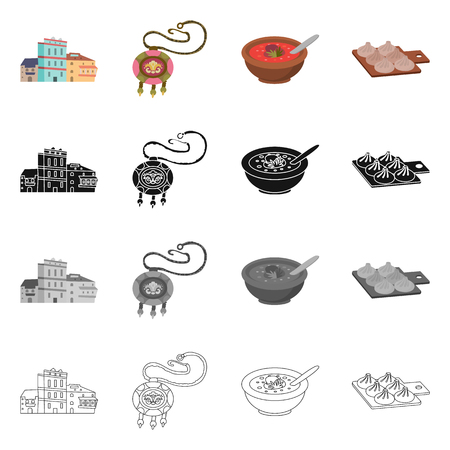 Vector illustration of culture and sightseeing sign. Collection of culture and originality stock symbol for web.