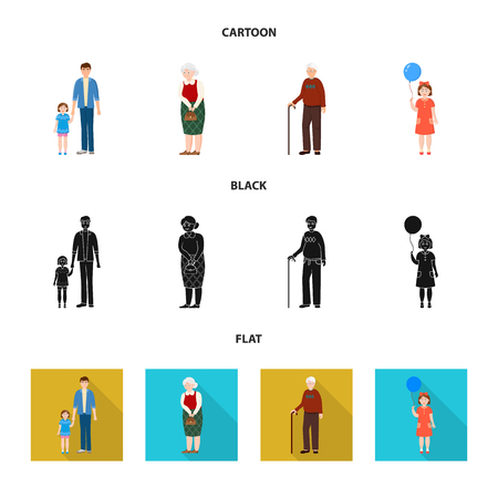 Vector design of character and avatar symbol. Collection of character and portrait stock symbol for web.