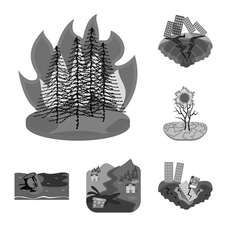 Isolated object of nature and apocalypse  icon. Set of nature and environment  stock vector illustration.