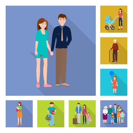 Vector illustration of generation  and happy  icon. Collection of generation  and avatar  stock vector illustration.