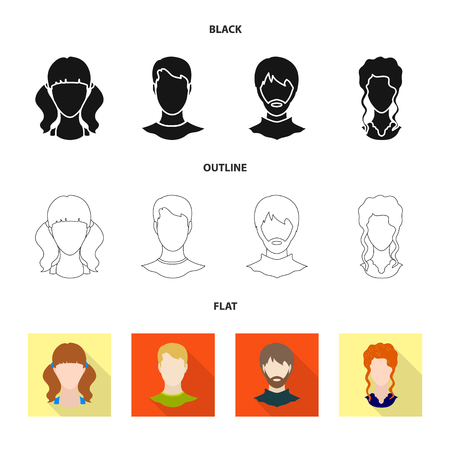 Vector design of professional and photo icon. Set of professional and profile stock vector illustration.