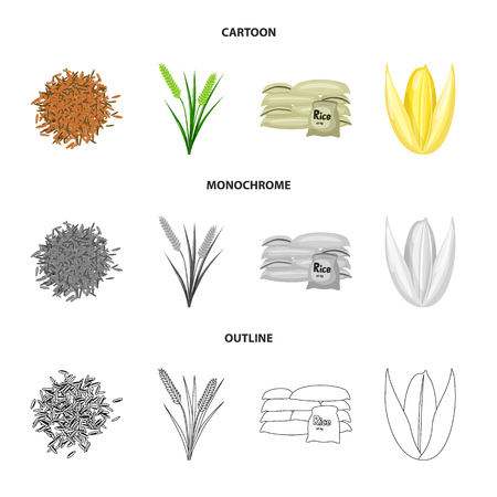 Vector design of crop and ecological icon. Collection of crop and cooking vector icon for stock. Иллюстрация