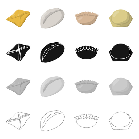 Isolated object of products  and cooking . Collection of products  and appetizer stock vector illustration.