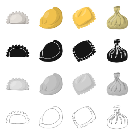 Isolated object of products  and cooking icon. Collection of products  and appetizer vector icon for stock. Banque d'images - 117083712