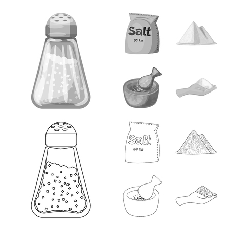 Vector design of cooking and sea symbol. Set of cooking and baking stock vector illustration.
