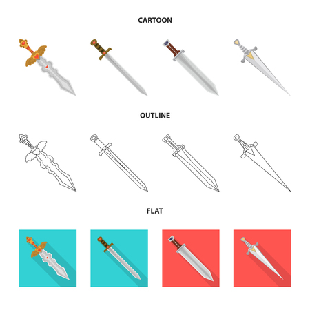 Isolated object of game  and armor  icon. Collection of game  and blade  stock symbol for web. Illustration