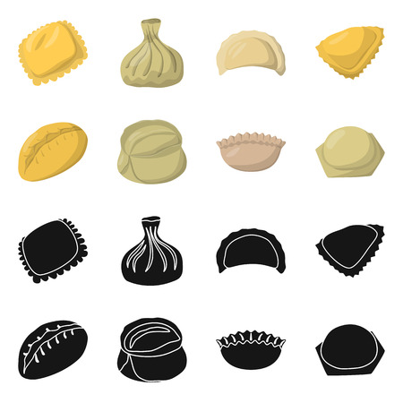 Isolated object of products  and cooking symbol. Collection of products  and appetizer stock vector illustration. Banque d'images - 117227079