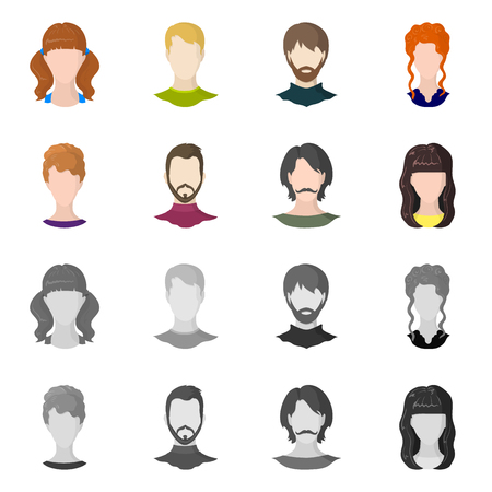 Illustration vectorielle de signe professionnel et photo. Collection d'icônes vectorielles professionnelles et de profil pour le stock.