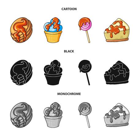 Vector illustration of confectionery and culinary symbol. Collection of confectionery and product stock vector illustration. Векторная Иллюстрация