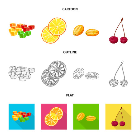 Vector design of food  and raw. Set of food  and nature   stock symbol for web.