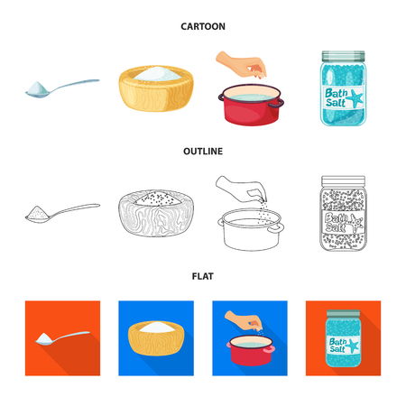 Vector design of cooking and sea. Set of cooking and baking   vector icon for stock. Ilustração