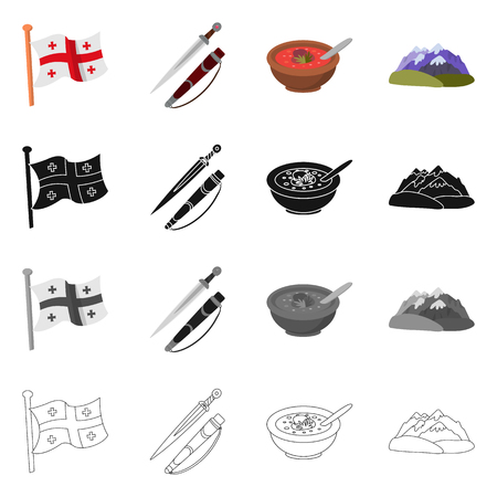 Isolated object of culture and sightseeing icon. Collection of culture and originality stock symbol for web.