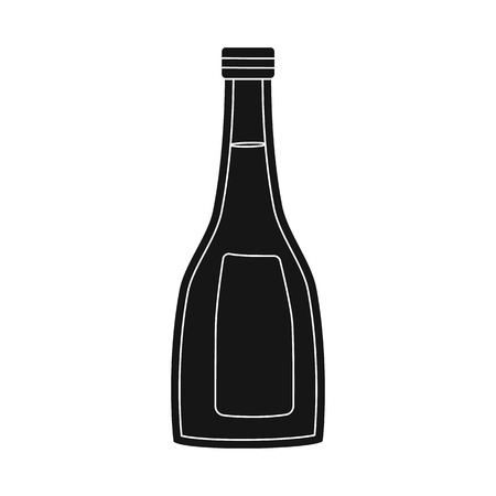 Isolated object of sauce  and soy. Collection of sauce  and vodka stock symbol for web.