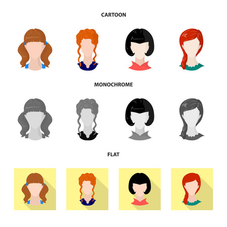Vector illustration of professional and photo icon. Collection of professional and profile stock vector illustration.