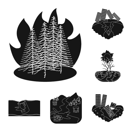 Vector illustration of calamity and crash icon. Collection of calamity and disaster stock symbol for web. Illustration