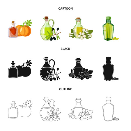 Vector design of healthy  and vegetable  logo. Set of healthy  and agriculture vector icon for stock. Vettoriali