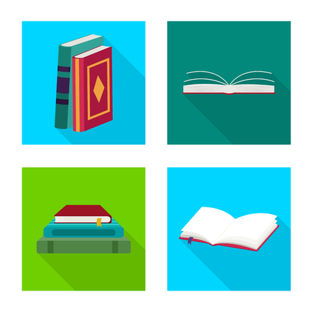 Vector design of illustration and information logo. Set of illustration and cover stock symbol for web. Banque d'images - 125056712