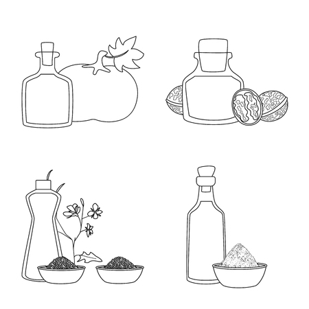 Isolated object of healthy  and vegetable  icon. Ilustração