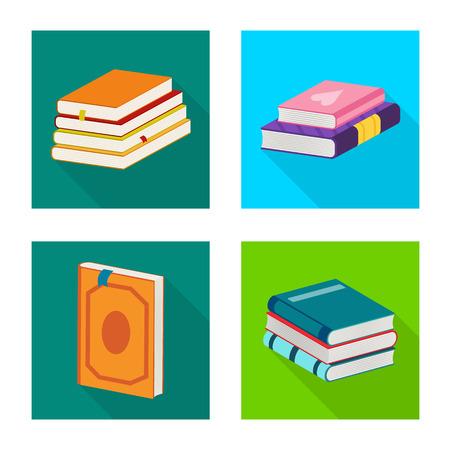 Vector design of illustration and information symbol. Set of illustration and cover stock vector illustration. Banque d'images - 125056722