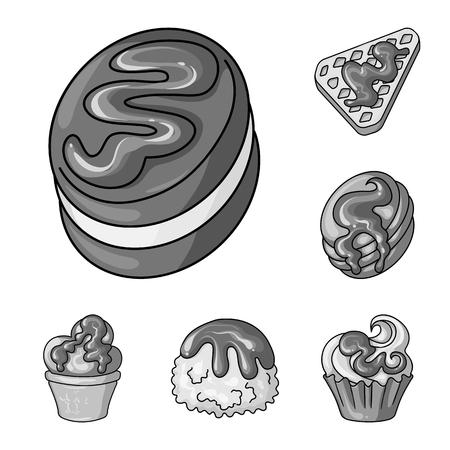Vector design of sweet and caramel icon. Collection of sweet and culinary vector icon for stock. Векторная Иллюстрация