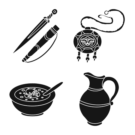 Vector illustration of heritage and originality symbol. Set of heritage and traditions stock vector illustration. Illustration