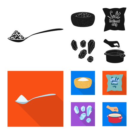 Isolated object of cooking and sea icon. Collection of cooking and baking   stock symbol for web.