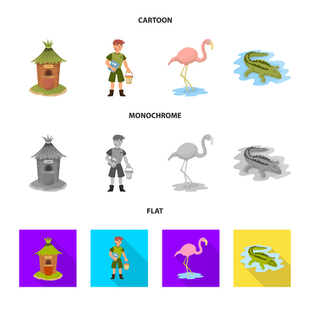 Vector illustration of nature  and fun  logo.