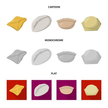 Isolated object of products  and cooking symbol. Ilustrace