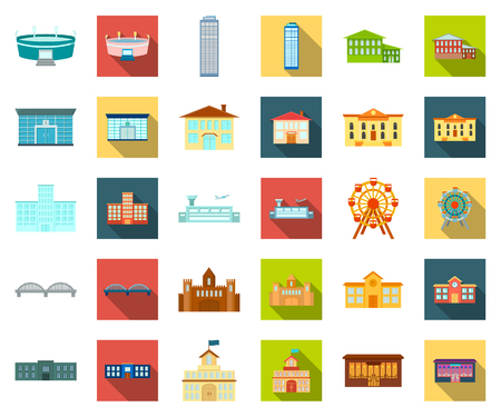 Building repair cartoon,flat icons in set collection for design.Building material and tools vector symbol stock web illustration.