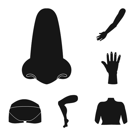 Vector design of body and part icon. Collection of body and anatomy vector icon for stock.
