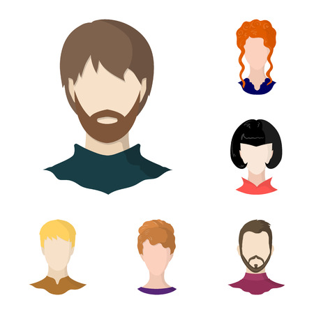 Vector illustration of avatar and dummy icon. Set of avatar and figure stock vector illustration.