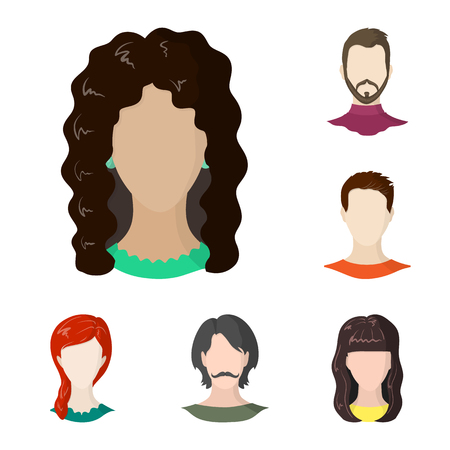 Isolated object of avatar and dummy sign. Collection of avatar and figure stock vector illustration.