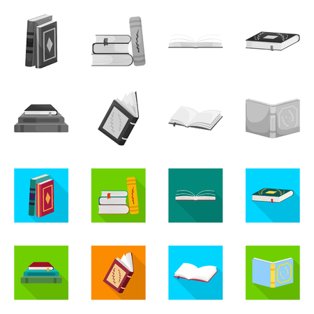 Vector design of training and cover icon. Collection of training and bookstore  vector icon for stock.