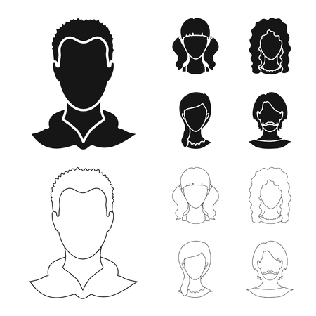 Isolated object of professional and photo sign. Set of professional and profile stock vector illustration.