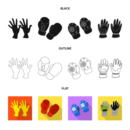 Vector design of silhouette and safety sign. Set of silhouette and comfort vector icon for stock. Иллюстрация