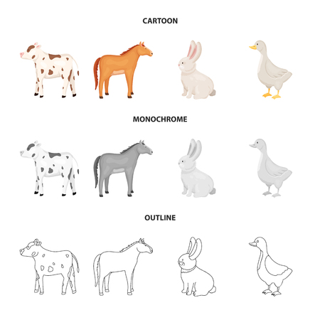 Vector illustration of breeding and kitchen  logo. Collection of breeding and organic  vector icon for stock.  イラスト・ベクター素材