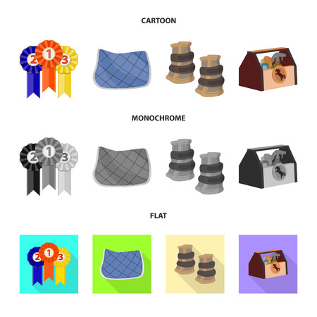 Isolated object of equipment and riding sign. Collection of equipment and competition vector icon for stock. 向量圖像