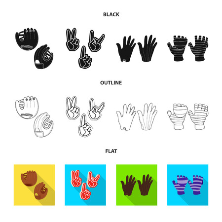Vector design of silhouette and safety icon. Set of silhouette and comfort vector icon for stock.
