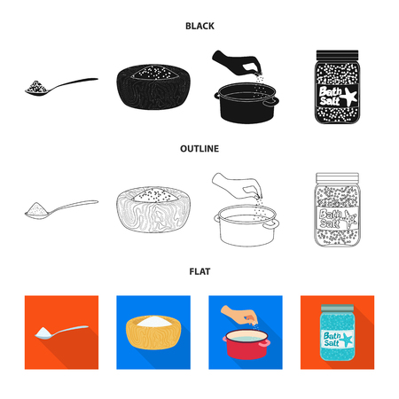 Isolated object of cooking and sea symbol. Collection of cooking and baking   vector icon for stock.