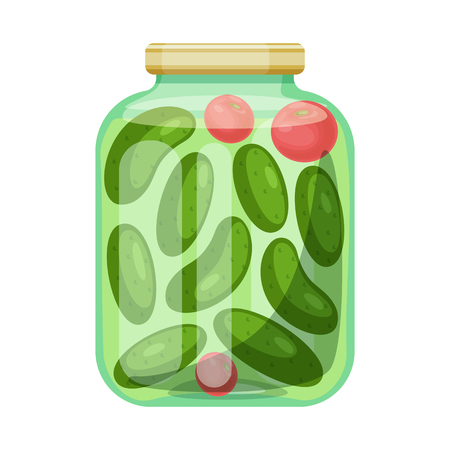 Isolated object of bank and cucumbers icon. Set of bank and salty   stock symbol for web. Illustration