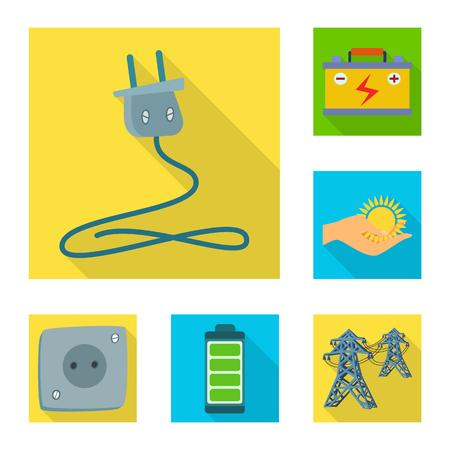 Vector illustration of Solar and panel logo. Collection of Solar and green stock vector illustration. Illustration
