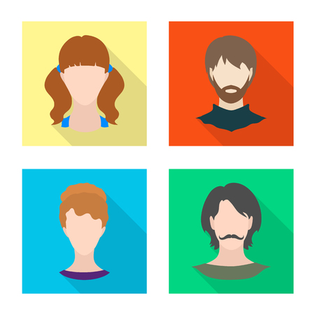 Vector design of avatar and dummy icon. Collection of avatar and figure vector icon for stock.