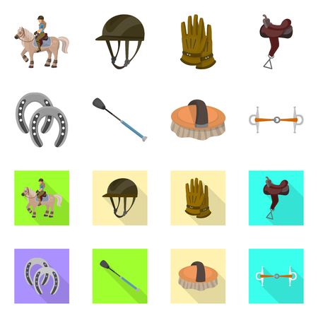 Isolated object of equipment and riding logo. Collection of equipment and competition vector icon for stock.