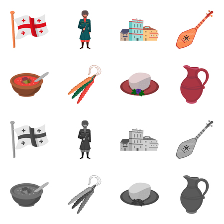 Vector design of culture and sightseeing sign. Set of culture and originality stock vector illustration.