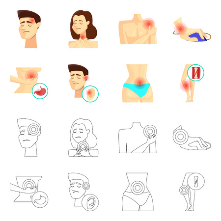 Isolated object of hospital and rendering icon. Collection of hospital and help vector icon for stock. Ilustração