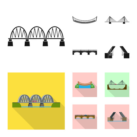 Vector design of connection and design icon. Collection of connection and side stock symbol for web.