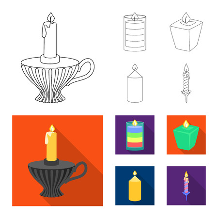 Vector design of relaxation and flame symbol. Set of relaxation and wax vector icon for stock. Illusztráció