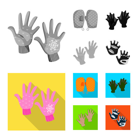 Vector illustration of silhouette and safety symbol. Collection of silhouette and comfort vector icon for stock.