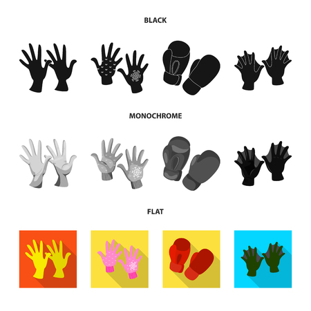 Vector design of silhouette and safety sign. Collection of silhouette and comfort stock symbol for web.