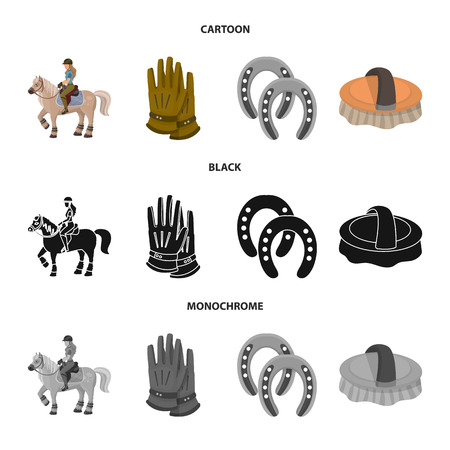 Vector design of equipment and riding symbol. Collection of equipment and competition vector icon for stock.